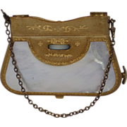 Folding Opera Glasses , Mother Of Pearl & Leather, French, C.1890