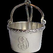 SALE Antique Sterling Tea Basket  Infuser, French , Circa 1900