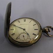 American Waltham Pocket Watch, KW KS Coin Silver c. 1871