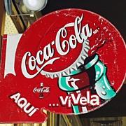 SALE Vintage Coca Cola Sign