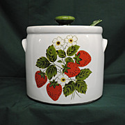 McCoy Strawberry Country Tureen with Ladle