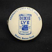 Pre 1930 Dixie Lye Advertising Tape Measure