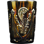 Inverted Fan & Feather Carnival Glass Tumbler
