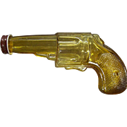 Vintage Amber Glass Revolver Candy Container