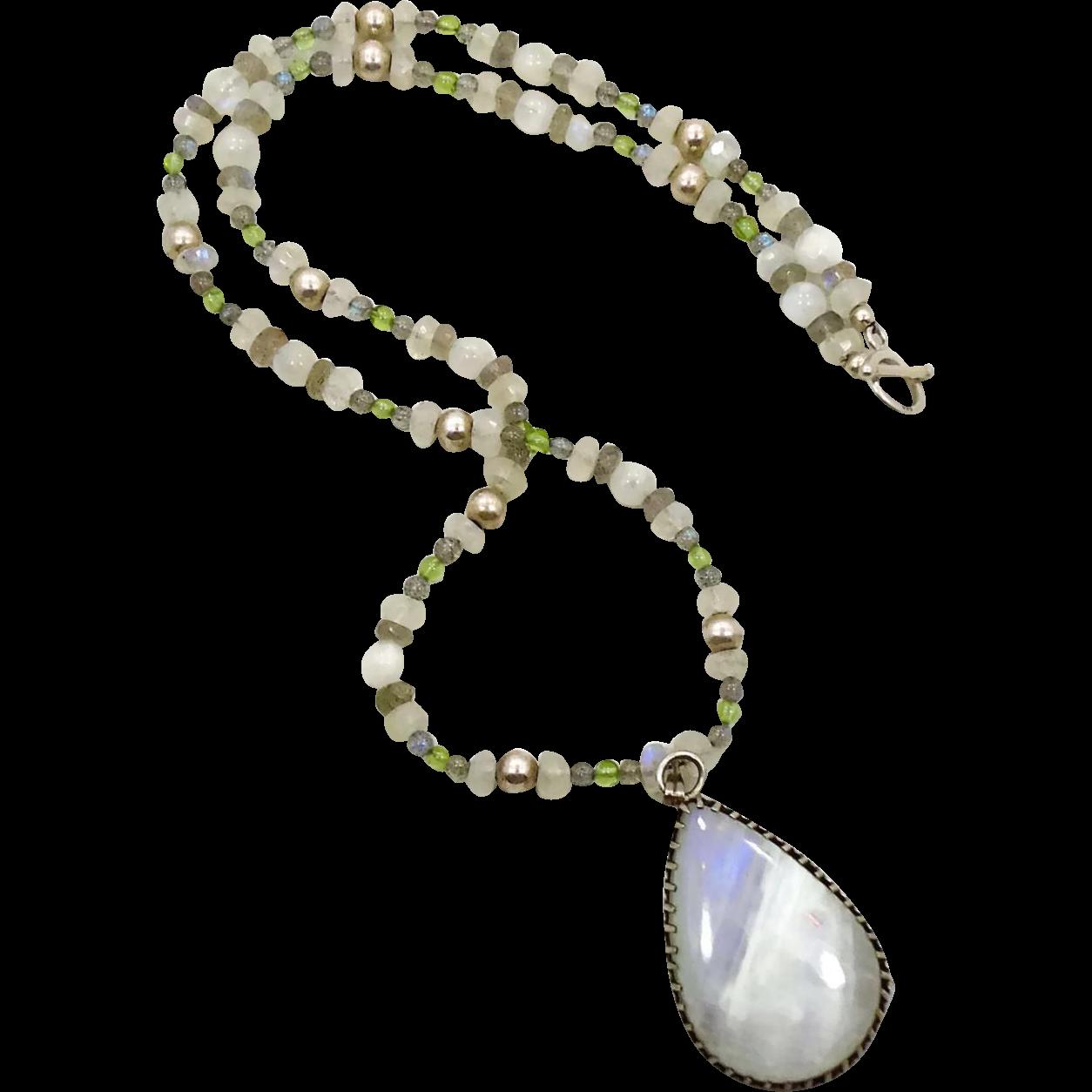 White Moonstone, Moonstone Necklace, Moonstone Earrings ...