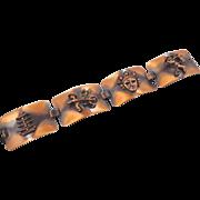 Asian Copper Bracelet - Vintage Mid Century 50s - InVintageHeaven