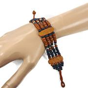 Beaded Bone Bracelet - Vintage Ethnic Tribal - Boho Gypsy - InVintageHeaven
