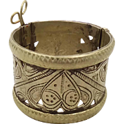 Gypsy Kuchi Bracelet, Silver Hinged, Cuff Bracelet, Vintage Bracelet, Afghan Ethnic, Turkoman,