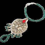 SALE Slave Bracelet, Slave Ring, Ethnic Tribal, Turquoise, Vintage Bracelet, Afghan Kuchi, Boh
