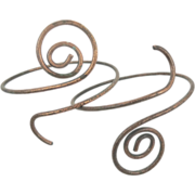 Vintage Upper Arm Bracelet Pair of 2 - Gypsy Boho Egyptian Adjustable - InVintageHeaven