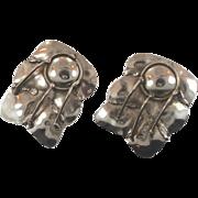 Brutalist Earrings, Big Statement, Vintage Pierced, India, Unique Unusual, Huge Earrings, Boho