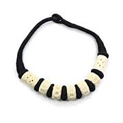 SALE Carved Bone Vintage Necklace - Big & Chunky - Boho Ethnic Tribal - InVintageHeaven