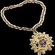 Vintage Heraldic Necklace - MASSIVE Size Runway Style - 60s - Renn SCA - InVintageHeaven