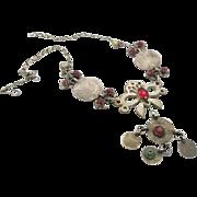 Afghan Necklace, Coin Necklace, Vintage Necklace, Kuchi Jewelry, Hazara, Gypsy, Boho Bohemian,