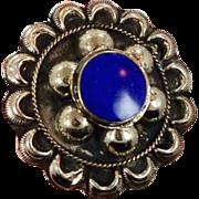 Big Blue Lapis Kuchi Ring - Vintage Afghan Ethnic Turkish - Two Finger - InVintageHeaven