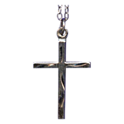 Sweet & Simple Sterling Cross with Chain – Charm or Pendant