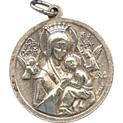 Vintage Medal of Our Lady of Perpetual Help / Blessed John Neumann – Italy
