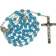 Petite Sterling & Turquoise Cut Glass Rosary – Miraculous Medal Center