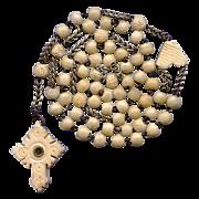 SOLD Scarce Early Lourdes Bone Pilgrimage Rosary – Stanhope Crucifix