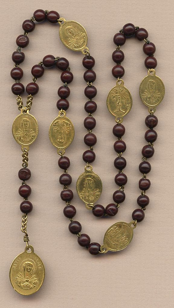 Soothing Antique Servite Seven Sorrows Rosary Glowing