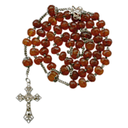SOLD Genuine Amber Art Nouveau Rosary – French Hallmarks & Family Heirloom