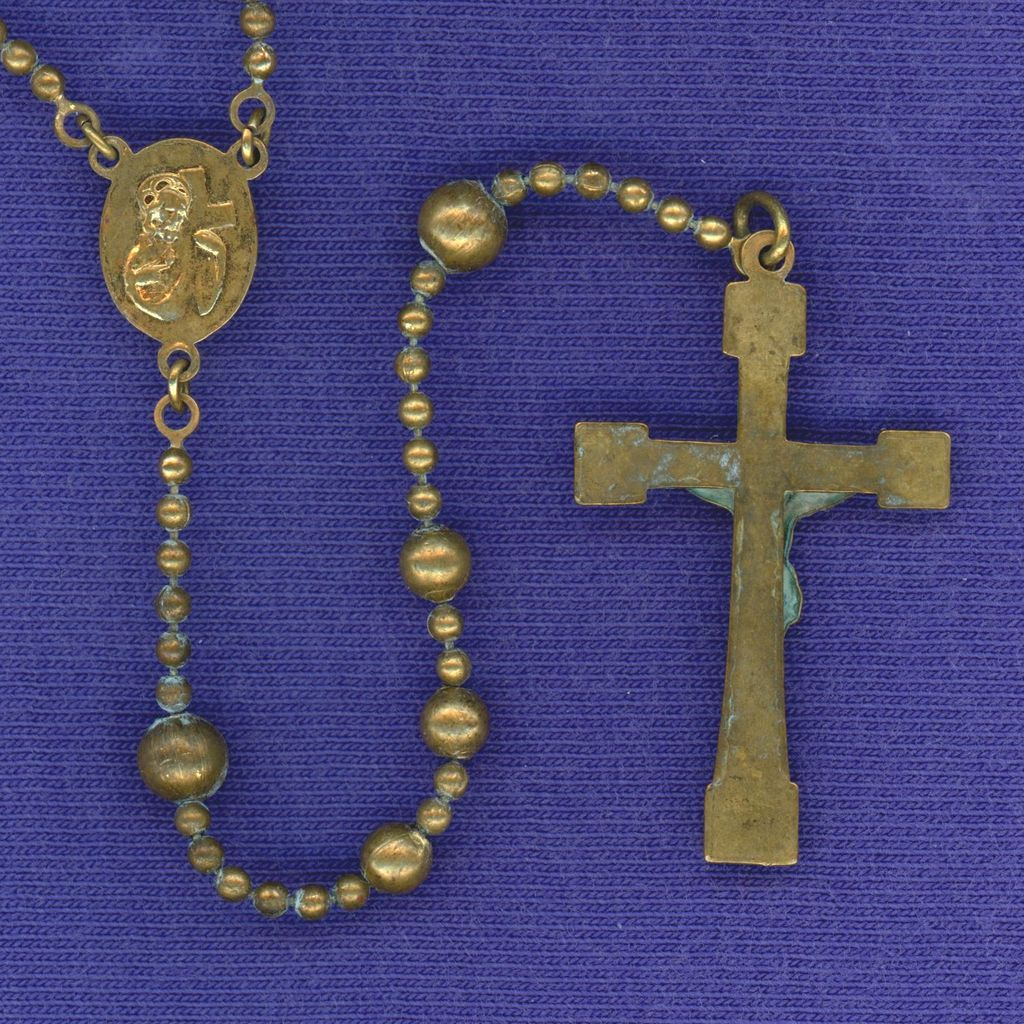 Brass Ww1 Government Issue Military Rosary Classic Inri