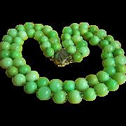 SALE Amazing 2 strands antique jade beads necklace 128.5 g