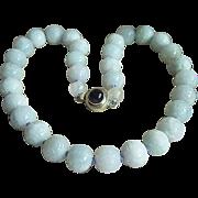SALE Amazing vintage carved lavender lilac jadeite jade sterling silver amethyst necklace 18 1