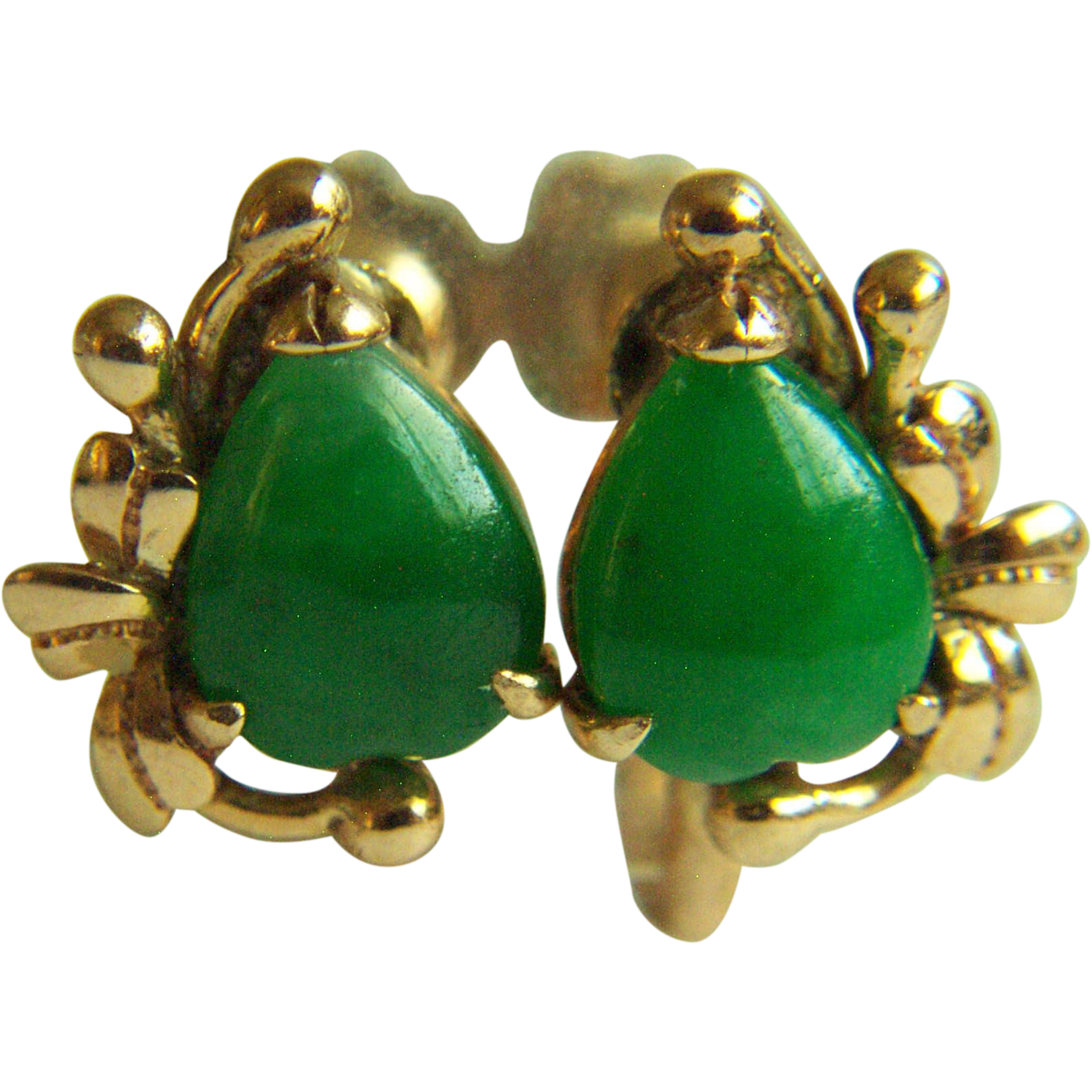 Extra Fine Vintage Tyl 14k Imperial Green Jadeite Jade