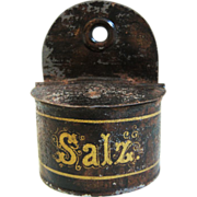 REDUCED Rock and Graner Miniature Tin Tole Salt Box - Salz - For Doll House