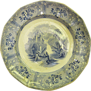 Early Ironstone Transferware Plate - Ontario Lake Scenery - J Heath Ca. 1805-1852 England