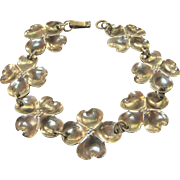 Sterling Silver Stuart Nye Dogwood Link Bracelet - Beautiful!