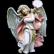 Beautiful Christmas Angel Playing Tambourine - Italy