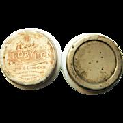 Pair Of Vintage Hess Co. Cosmetic Glass Jars - Lip / Cheek Tint