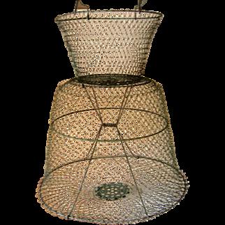 Large Vintage Metal Eel Net / Basket - France