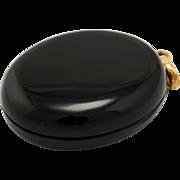 Antique Victorian 14K Gold Hinged Black Onyx Double Locket Pendant