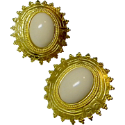 Ben Amun Signed Vintage Designer Earrings