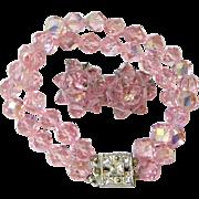 Laguna Vintage Aurora Borealis Glass Bracelet & Earring Set