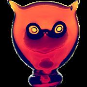 Blenko Vintage Artglass Owl / Cat Paperweight
