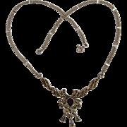 Vintage Feminine Sterling Silver & Marcasite Necklace