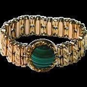 Vintage Decorately Carved Expandable Women's Bracelet c. Early 1900's