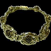 Pre 1945 German Roses Link Bracelet