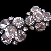 Bold Statement Japanned Cut Crystal Earrings