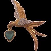 """Vintage Kramer """"Love Bird"""" Pin-Brooch"""