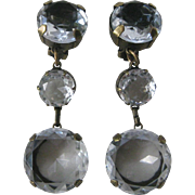 SALE J.Max Stunning Crystal Ice Clear Open Back Glass Stones Chandelier Earrings