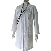 SOLD Vintage Authentic Ottenheimer & Co Lab Coat Doctor's Jacket with Double Button Back Belt