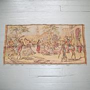 Vintage Tapestry Spanish Themed Scene Flamenco Matadors Made in Belgium