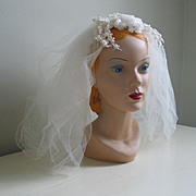 Vintage 1960s Gossamer Bridal White Wedding Veil