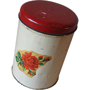 Vintage Red Rose Canister
