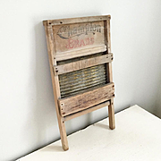 Vintage Brass Washboard Scrubbing Board by Champion